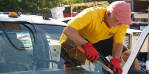Cutting Out Windshield Cape Coral Truck Windshield Replacement